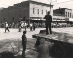 George Wallace giving a speech in a small town during the 1962 gubernatorial campaign.