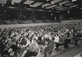 Audience at a political gathering for George Wallace during the Democratic Primary of the 1972...