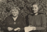 Tallulah Bankhead with her aunt, Marie Bankhead Owen.