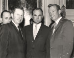 Governor John Patterson with Floyd Mann and another man.