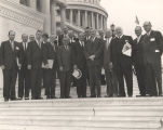 John Patterson and the Alabama congressional delegation on the steps of the Capitol in Washington,...