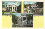 Homes of Governor William Wyatt Bibb, J.E. Pierce, and Senator R.E. Spragins in Huntsville,...