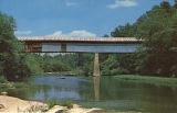 Swann Covered Bridge over Locust Fork of Black Warrior River, Blount County, Alabama.