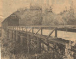 """Lincoln's Covered Bridge As It Looked."""