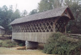 East side of Poole's Covered Bridge in Troy, Alabama.