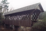 West side of Poole's Covered Bridge in Troy, Alabama.