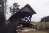 South end of Poole's Covered Bridge in Troy, Alabama.