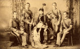 Cadet staff of the class of 1887 at the University of Alabama in Tuscaloosa.