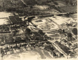 Aerial view of Cramton Bowl in Montgomery, Alabama, before the east stands were built.