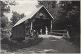 Mellon Covered Bridge in Talladega National Forest, southeast of Anniston, Calhoun County, Alabama.