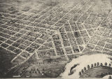 Aerial view of Montgomery, Alabama.