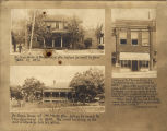 Homes of Dr. Marion Sims in Montgomery and Mount Meigs, Alabama, and his office in Montgomery.