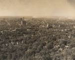 Aerial view of Birmingham, Alabama, from Vulcan Park on Red Mountain.