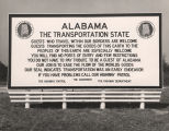 Highway billboard welcoming people to Alabama.