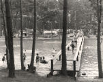 Swimming and camping at Wind Creek State Park in Tallapoosa County, Alabama.