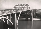 Edmund Pettus Bridge over the Alabama River in Selma, Alabama.