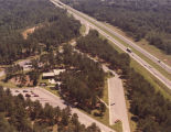Aerial view of the welcome center off Interstate 85 in Lanett, Alabama.
