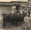 Pauline and E. J. Klinner with their cattle at a beef cattle show and sale in Birmingham, Alabama.
