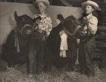 Johnny and Lyndal Childress of Baldwin County, Alabama, with their prize-winning cattle at the...