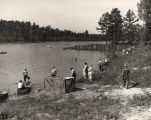 People fishing in Lake Martin in Tallapoosa County, Alabama.