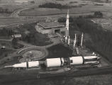 Aerial view of the U.S. Space and Rocket Center in Huntsville, Alabama.