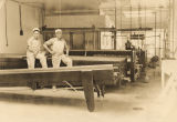 Workers and machinery at the cheese plant in Boaz, Alabama.