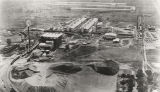 Aerial view of the Reynolds Metal Company reduction plant in Listerhill, Alabama.