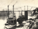 "Steamboats ""Jas. T. Staples"" and ""City of Mobile"" on the Alabama River in..."
