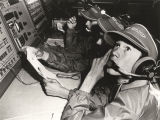 Children at the control panel during a session of Space Camp at the Space and Rocket Center in...