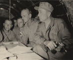 Major General Franklin Augustus Hart of the 4th Marine Division, getting reports during the battle...