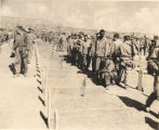 Dedication of the 4th Marine Division cemetery on Iwo Jima.