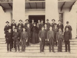 Governor Joseph F. Johnston with some of the consitutional officers, heads of state agencies, and...