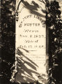 Tombstone of General John Lingard Hunter at the Hunter Cemetery in Eufaula, Alabama.