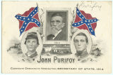 Political advertisement for John Purifoy during the 1914 campaign for secretary of state in...