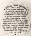 Plaque honoring Governor George Smith Houston at the Capitol in Montgomery, Alabama.