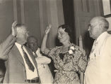 Dixie Bibb Graves being sworn into the United States Senate by Vice President John Nance Garner.