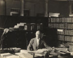 Thomas M. Owen at his desk in the Capitol in Montgomery, Alabama.