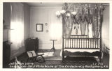"""Jefferson Davis Bed Room - First White House of the Confederacy - Montgomery, Ala."""