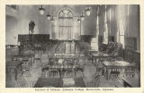 """Interior of Library, Alabama College, Montevallo, Alabama."""