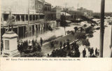 """Duncan Place and Semmes Statue, Mobile, Ala. After the Storm Sept. 27, 1906."""