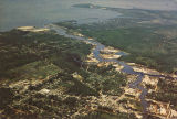 Aerial view of Bayou La Batre, Alabama.