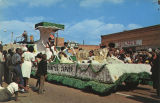 George Washington Carver float in the Peanut Festival parade in Dothan, Alabama.