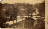 Looking east from the Big Spring in Huntsville, Alabama, near the camp of the 4th Minnesota...