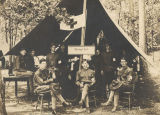 Officers and soldiers in the hospital corps of the 2nd Infantry, Alabama National Guard at a joint...