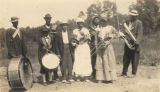 Members of an African American band.