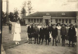 Part-time students at a school in Fairfax, Alabama, with their teacher, Miss Alford.