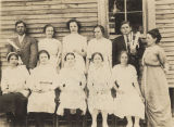Graduating class at Haw Ridge Rural School in Dale County, Alabama.