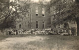 Students outside the main building of the high school in Abbeville, Alabama.