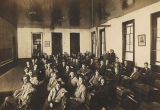 Male students in a classroom at the high school in Brewton, Alabama.