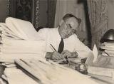 Speaker of the House William B. Bankhead signing bills just before the adjournment of the first...